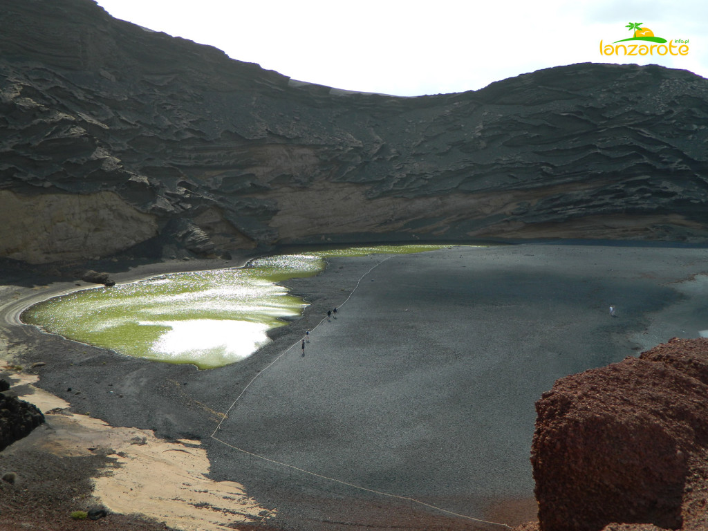 Zielone jezioro El Golfo